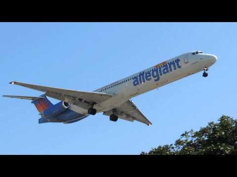*RARE* Allegiant Air McDonnell Douglas MD-88 [N403NV] landing in LAX