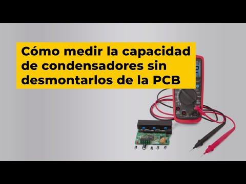Medición de capacidad de condensadores sin desmontarlos de la placa