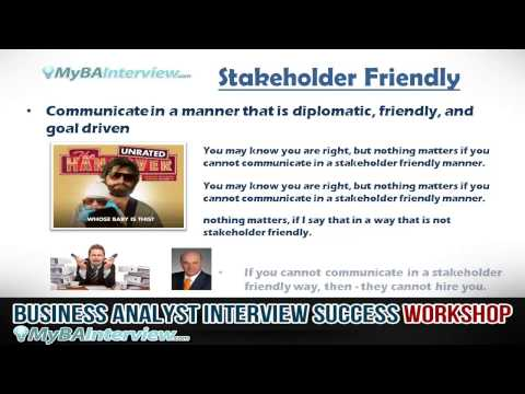 Business Analyst Interview Workshop - What is the Interviewer looking for? (Video 3 of 6)