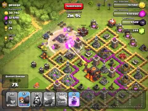 Clash of Clans - Inferno Tower in Action!!!!