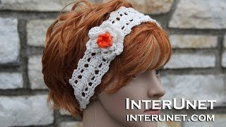 How to crochet a headband with a flower