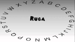 How to Say or Pronounce Ruga