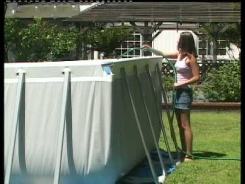 Montaggio piscina ultra frame intex youtube for Piscina intex ultra frame