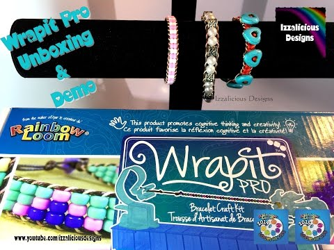 Rainbow Loom Wrapit Pro Unboxing. Review & Demo - Make wrap it bracelets in the Chan Luu style
