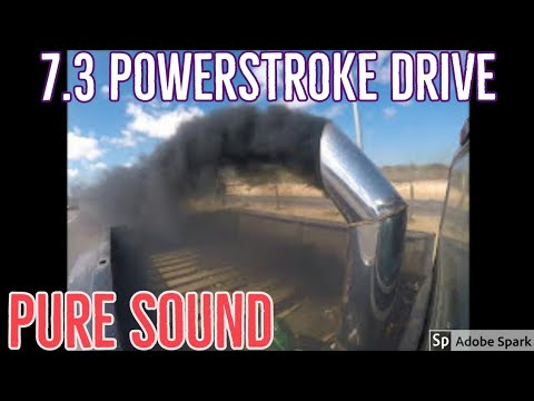 FORD POWERSTROKE  7.3  OBS 160/30 injector test drive. PURE SOUND!