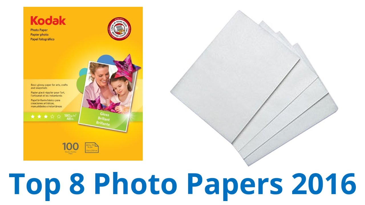 8 Best Photo Papers 2016
