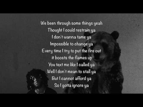 6LACK - Ex calling (Lyrics)