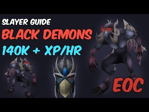Black Demons Slayer Guide – 140k+/hr Slayer 300k+ /hr Magic  [EOC] Runescape