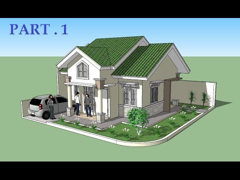 Sketchup Tutorial House Design Part 1 Youtube