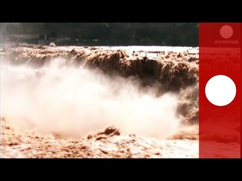Monster Waterfall Thrills Tourists In China video