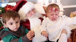 Toddler Cries Having Breakfast With Santa | Santa Fail