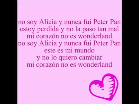 Miss xv wonderland letra.