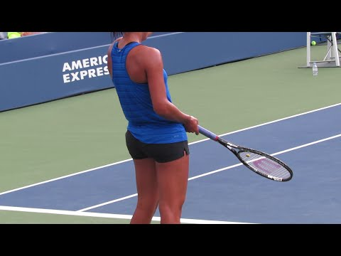 Madison Keys Practice at the 2014 Us Open (2)