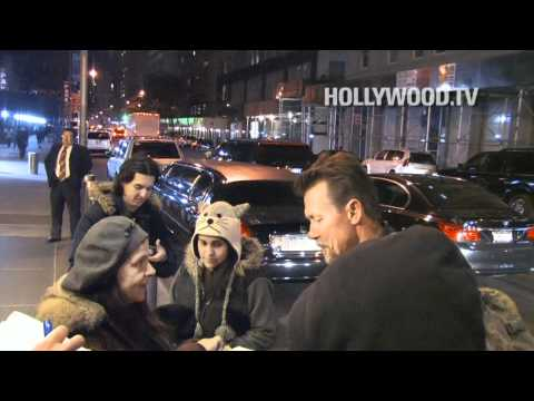 Robert Patrick greets fans in Manhattan