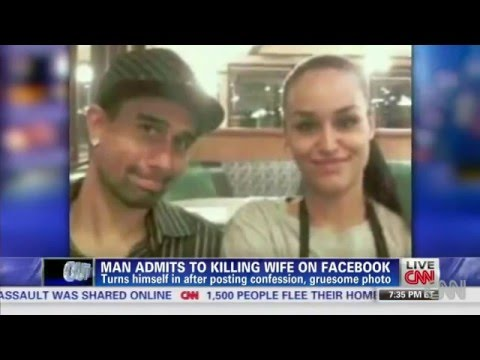 Florida Man kills his wife   Shares picture and post on Facebook