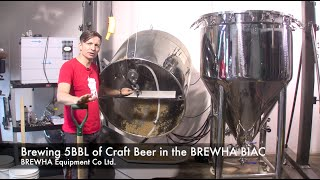 Brewing 5BBL of Craft Beer in the BREWHA BIAC microbrewery