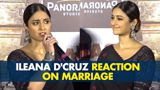 Ileana D'Cruz Reaction on being asked about her Marriage at Raid Trailer Launch | SpotboyE