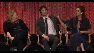 "Paleyfest 2014 - Vampire Diaries Panel First Question ""Delena Rain Kiss"" [Altyazılı]"