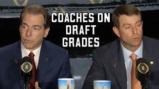 Saban, Swinney on NFL Draft grades and player distraction