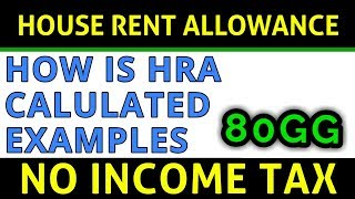 How is HRA Calculated | House Rent Allowance Examples FY 2018-19 | FinCalC TV