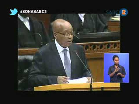 President Jacob Zuma's State of the Nation Address, 14 February 2013