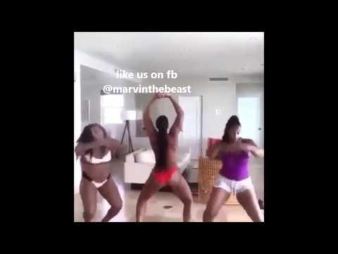Ashanti having fun. pool twerk thumbnail
