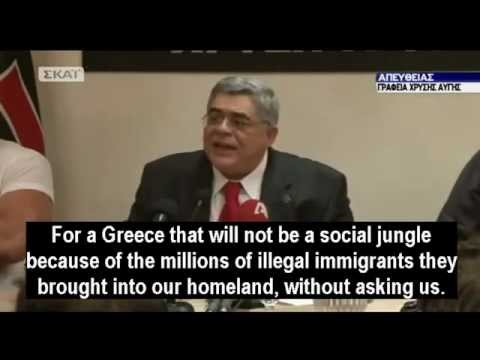 Golden Dawn leader Mr. Mihaliolakos' speech after the May 2012 Greek elections