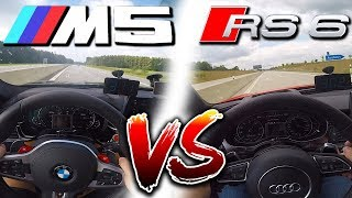 0-310km/h | BMW M5 F90 vs Audi RS6 Performance | TOP SPEED, Acceleration TEST✔