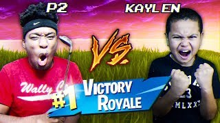 I FINALLY 1v1'd MindofRez's Little Brother Kaylen and THIS HAPPENED! Kaylen vs P2istheName