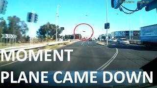 Moment of Melbourne plane crash
