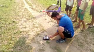 Simple 3 channel homemade r c plane flying