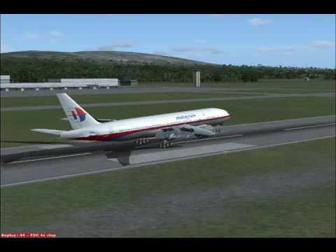Flight Simulator:X Malaysia Airlines Boeing 777 Landing In Penang Intl