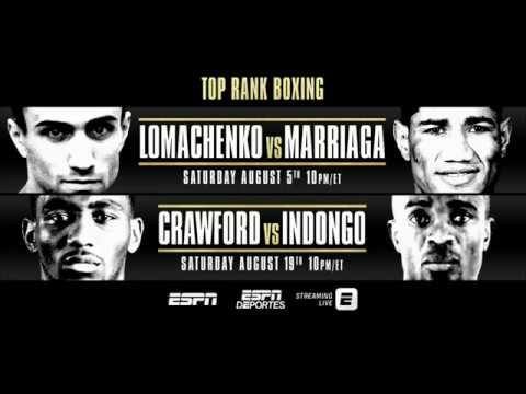 LIVE on ESPN! 🥊 Lomachenko vs. Marriaga #Aug5th & Crawford vs Indongo #Aug19th