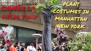 KHAI TRƯƠNG NHÀ HÀNG CHUYÊN LA HIẾM THẤY ( PLANT COSTUMES IN MANHATTAN NEW YORK )