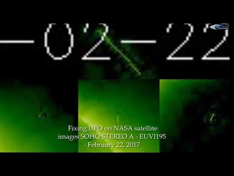 Fixing UFO on NASA satellite images SOHO STEREO A - EUVI195 - February 22, 2017