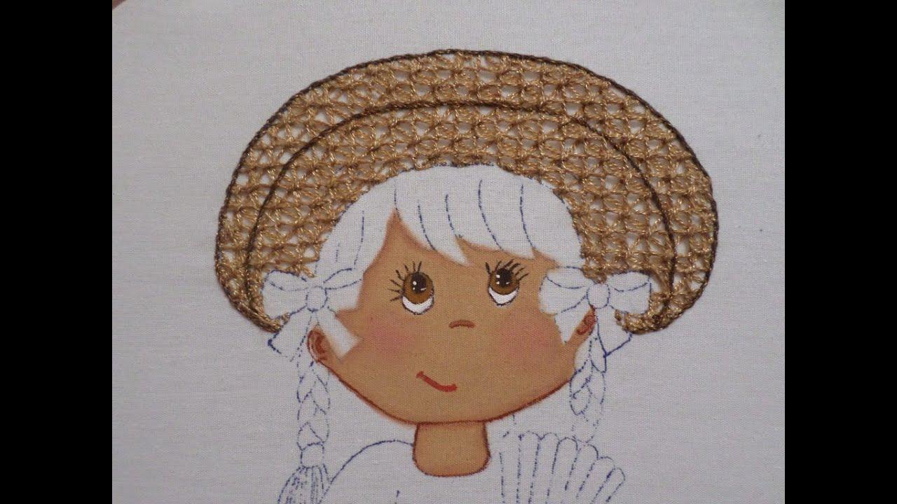 Bordado fantas a sombrero china poblana 2 youtube for Como hacer alfombras en bordado chino