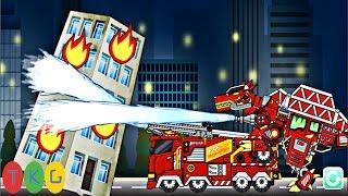 Lắp ráp robot Xe Cứu Hỏa biến hình khủng long | Dino Robot Fire Truck | TKG