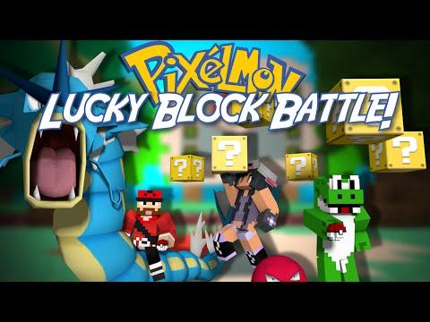 Minecraft: PIXELMON LUCKY BLOCK BATTLE w/ Friends!