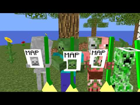 Monster School: Flying Broom - Minecraft Animation
