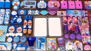Special Series #54 PURPLE vs BLUE PRINCESS FROZEN and DORAEMON !! Mixing Random Things into Slime