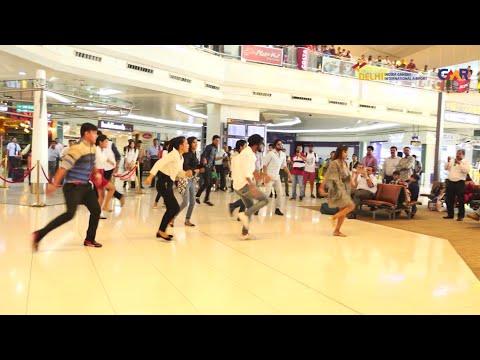Flash Mob at Delhi Airport. #10JoyfulYears