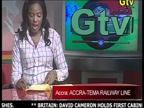 GTV News - Voter Registration / Accra-Tema Railway Line - Ghana (May 2010)