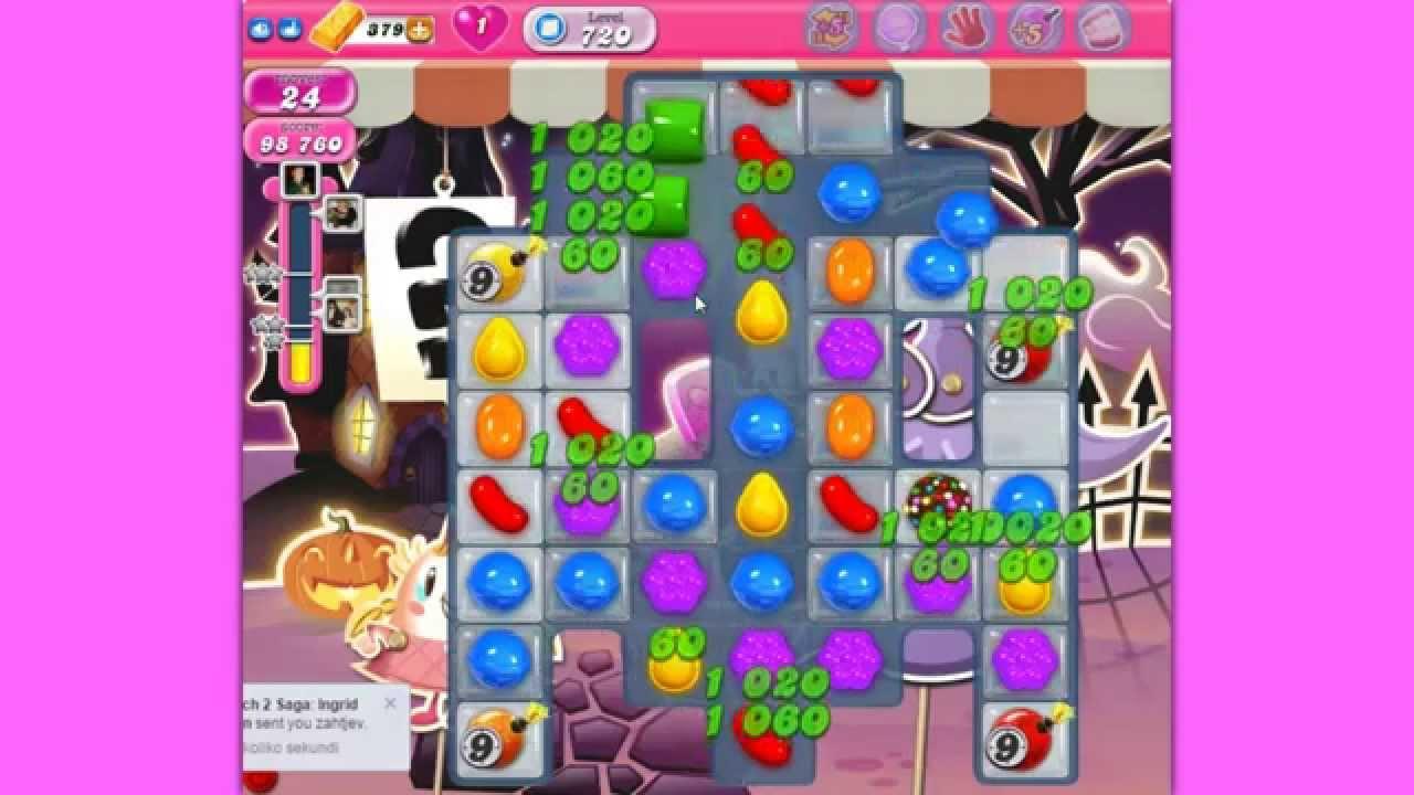 Candy Crush Saga level 720 - YouTube
