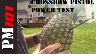 Crossbow Pistol Power Test: This is NOT A TOY!      - Preparedmind101