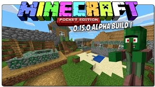 EL SECRETO DE LAS ALDEAS ZOMBI | MINECRAFT POCKET EDITION 0.15.0 ALPHA BUILD 1 - ESPAÑOL | MCPE