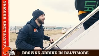 'This is Our Playoff Game' The Browns Arrive in Baltimore | Cleveland Browns