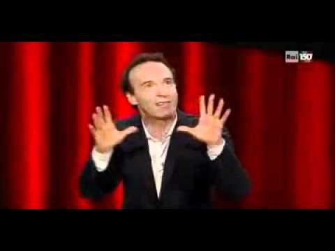 """Inno Nazionale """"Fratelli d'Italia"""" raccontato e cantato da Roberto Benigni, Sanremo 2011 – parte4di4"""