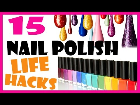 NAIL POLISH LIFE HACKS | 15 NAIL POLISH USES YOU DIDNT KNOW ABOUT | MELINEY HOW TO VIDEO