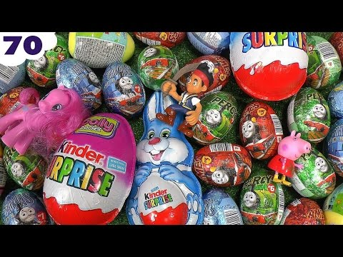 70 Thomas And Friends Peppa Pig Play Doh Kinder Surprise Eggs Cars Planes Avengers Mlp Frozen video