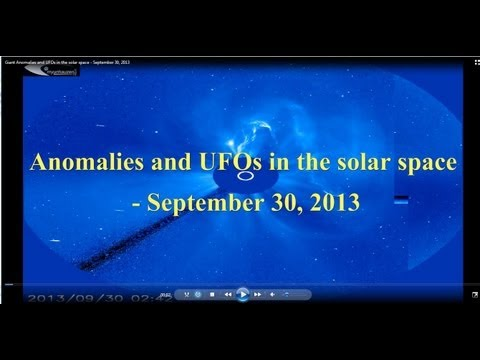Giant Anomalies and UFOs in the solar space - September 30, 2013
